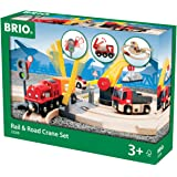 BRIO Rail & Road Crane Set