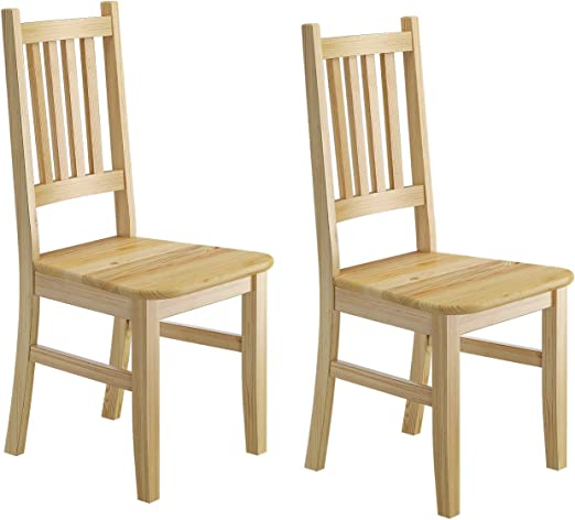 Küchenstuhl Massivholzstuhl Esszimmerstuhl Kiefer Stuhl Eris