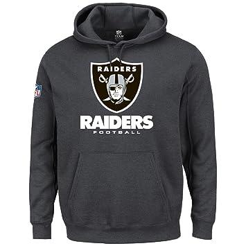 Majestic equipo sudadera con capucha - Oakland Raiders Gris, hombre, gris oscuro, medium: Amazon.es: Deportes y aire libre