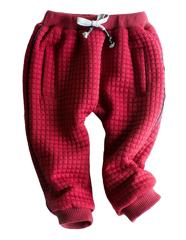YXMAHW Pantalones De Tela Escocesa De Los Niños Del Invierno