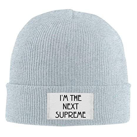 9eed3af61de Amazon.com  Beanie Cap I m The Next Supreme Wool Knitted Hats Unisex Skull  Caps  Clothing