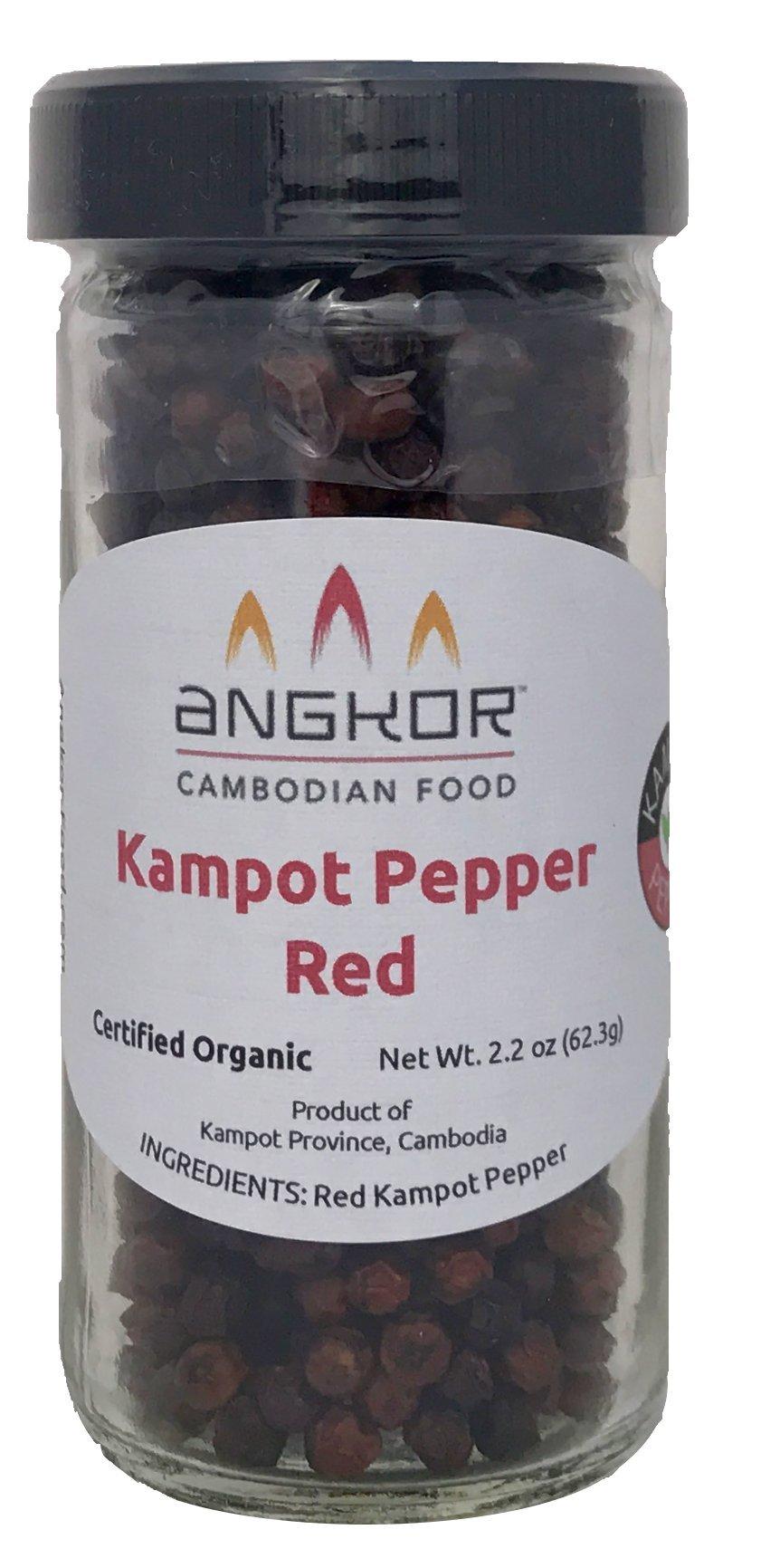 Organic Kampot Pepper (ម្រេចកំពត); Red 2.2oz by Angkor Cambodian Food