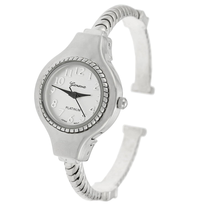 Amazon.com: Geneva Platinum reloj de mujer de Twisted Cuff ...