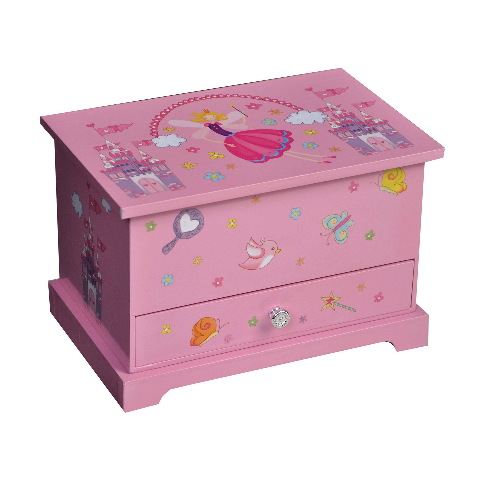 Mele & Co. Kerri Girl's Musical Ballerina Jewelry Box (Castles/Fairy Princess)