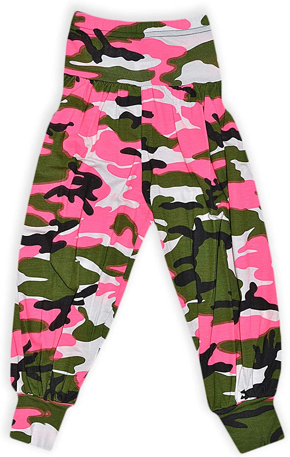 jolly rascals Girls Camo Print Harem Trousers Kids Costume Pants New Child Age 7-13 Years