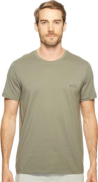 Hugo Boss Green Logo T-Shirt in Grey Size Large