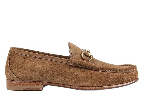 Gucci mocasines en ante hombre nuevo labrador marrón EU 44 307929 CLB00 2527: Amazon.es: Zapatos y complementos