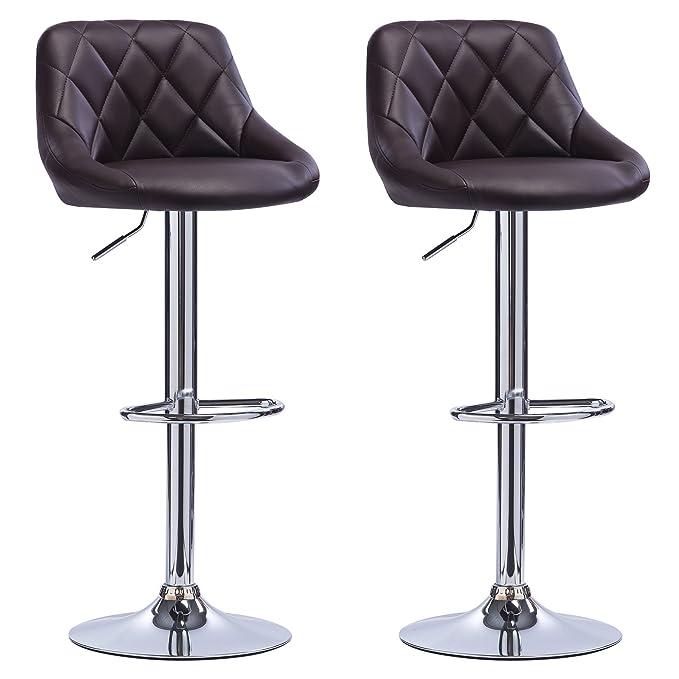 2x Design Barhocker höhenverstellbar drehbar Barstuhl Tresenstuhl versch Farbe