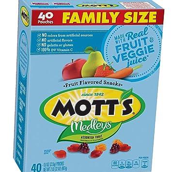Amazon.com: Motts Medleys bocadillos de fruta, surtidos de ...