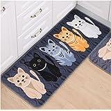 CH Cute Cat Printed Doormat Rectangle Floor Mat 16'' x 24'' for Children's Room Living Room Bathroom Kitchen (Style 1)