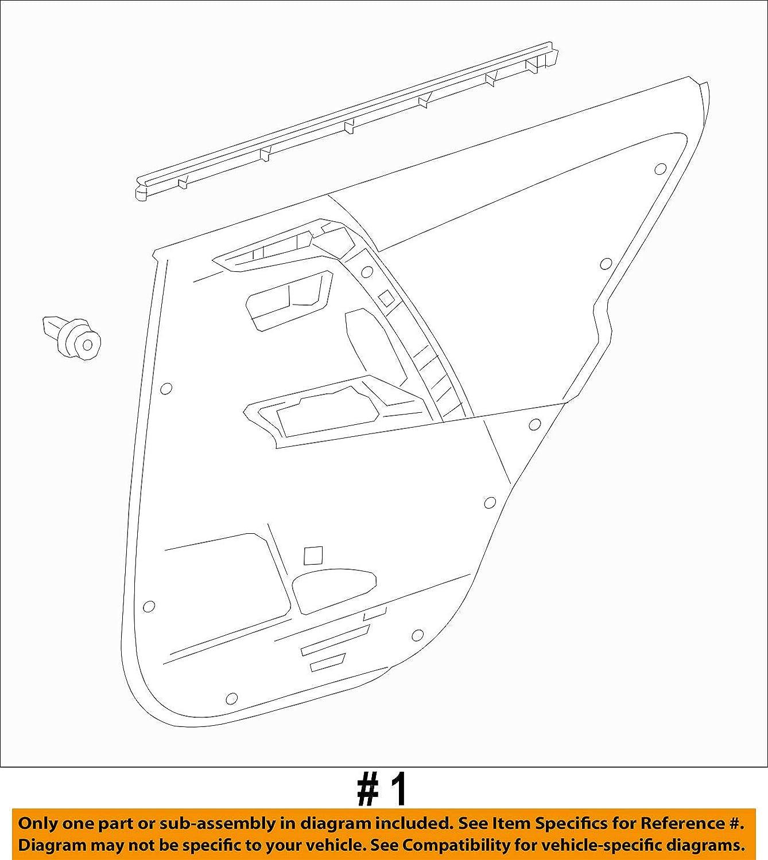 Genuine Toyota 67640-0R070-C4 Door Trim Board