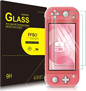 IVSO 2 Pack - Screen Protector for Nintendo Switch lite 2019,9H Hardness,High Definition,Tempered Glass Anti-Scratch with Lifetime Replacement Warranty