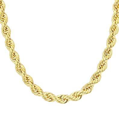 Citerna 20 inch/51 cm Length Thick Rope Chain 9 ct Yellow Gold Necklace