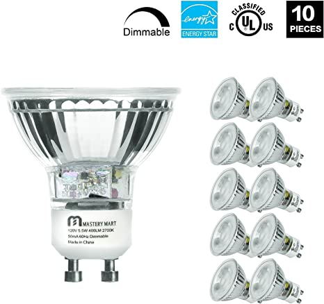 Amazon.com: Mastery Mart - Bombillas LED GU10 equivalentes a ...