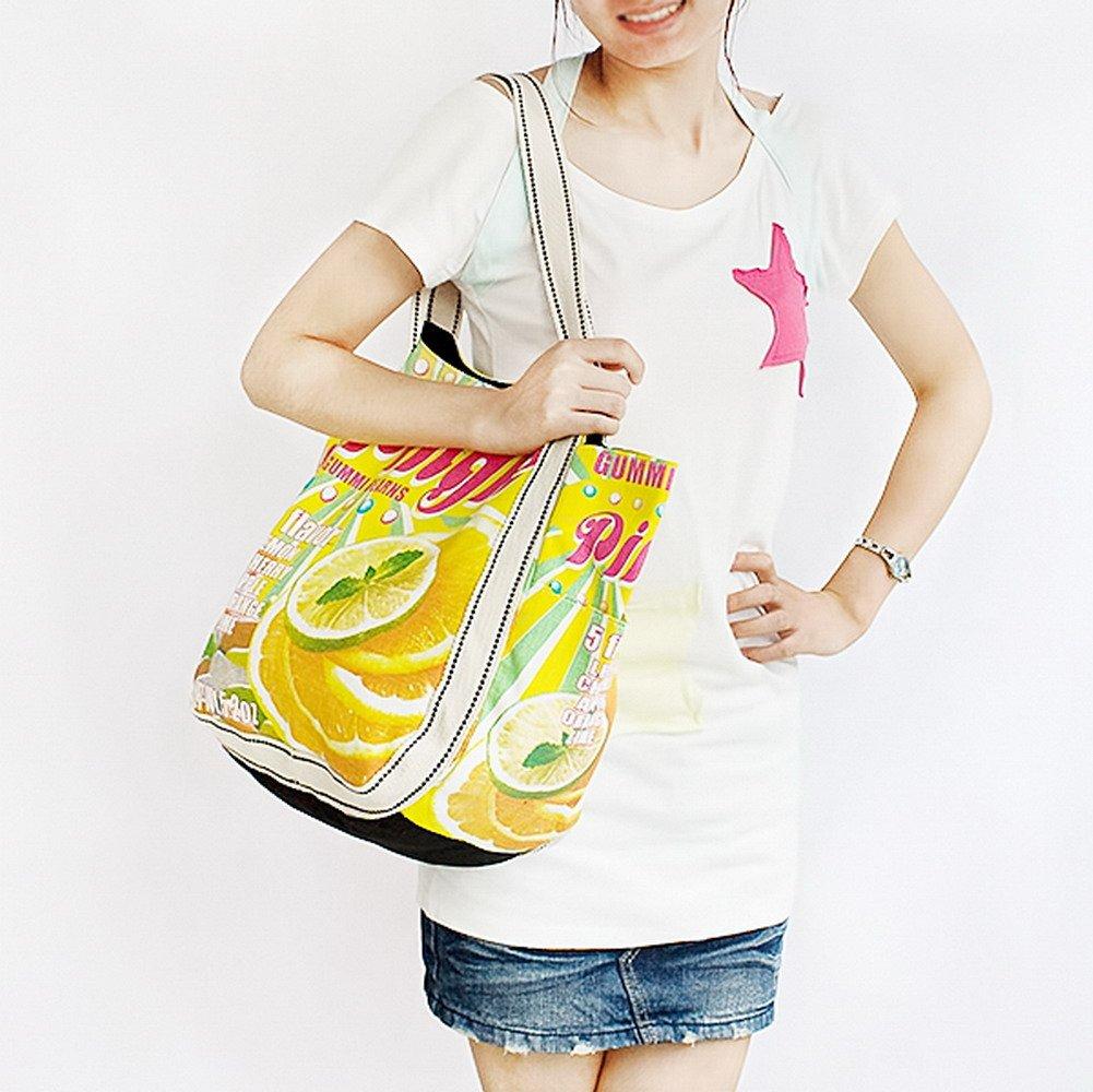 Pingle Canvas Shoulder Tote Bag