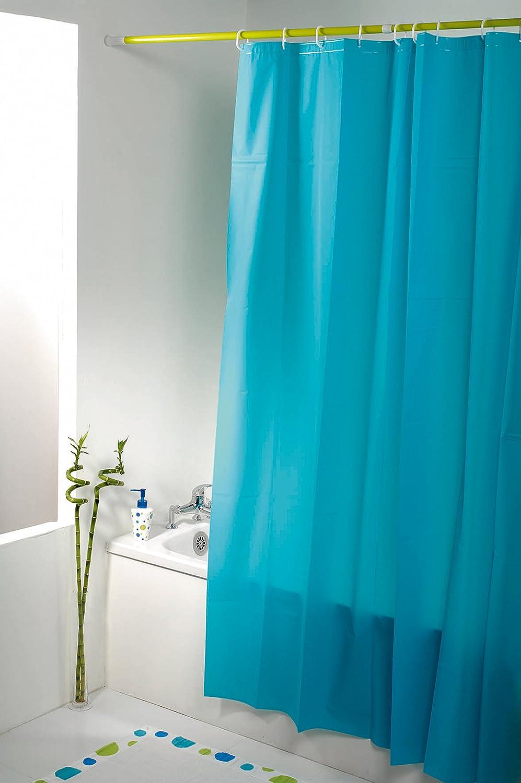 Rideau de douche turquoise for Rideau turquoise