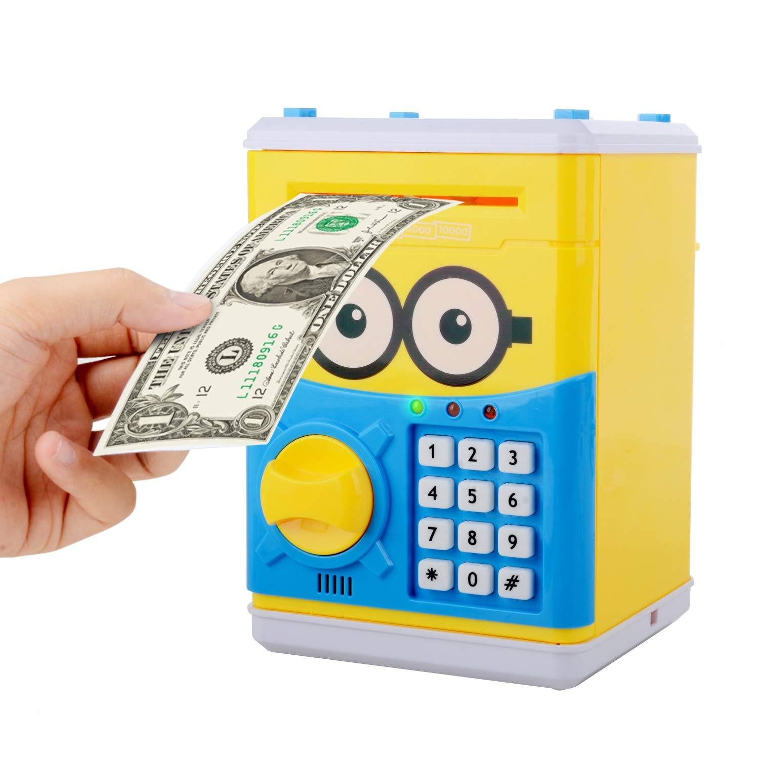 Cartoon Piggy Bank for Children Kids Password Electronic Money Bank, Mini ATM Electronic Coin Bank Coin Box, Great Christmas Gift for Children by CreaTion (Image #1)