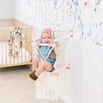 little dove Hamaca Colgante de macramé para bebé con diseño de ...