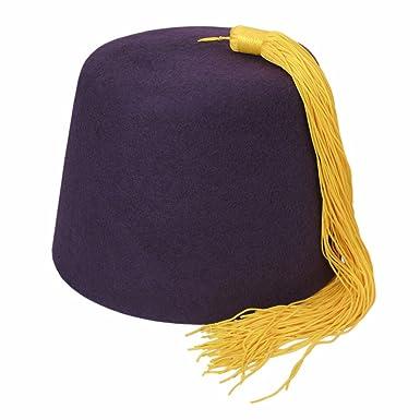 Village Hat Shop Fez w Gold Tassel (Medium 949ed659628