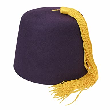 Village Hat Shop Fez w Gold Tassel (Medium 8962d58122a