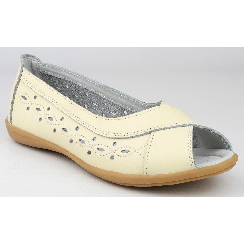 Amblers Ladies Amblers Rococo Slip Leather Peep Toe Summer Shoe Navy 1jWb3n