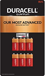 Duracell Quantum 9V Alkaline Batteries 6ct. Pk, Packaging May Vary