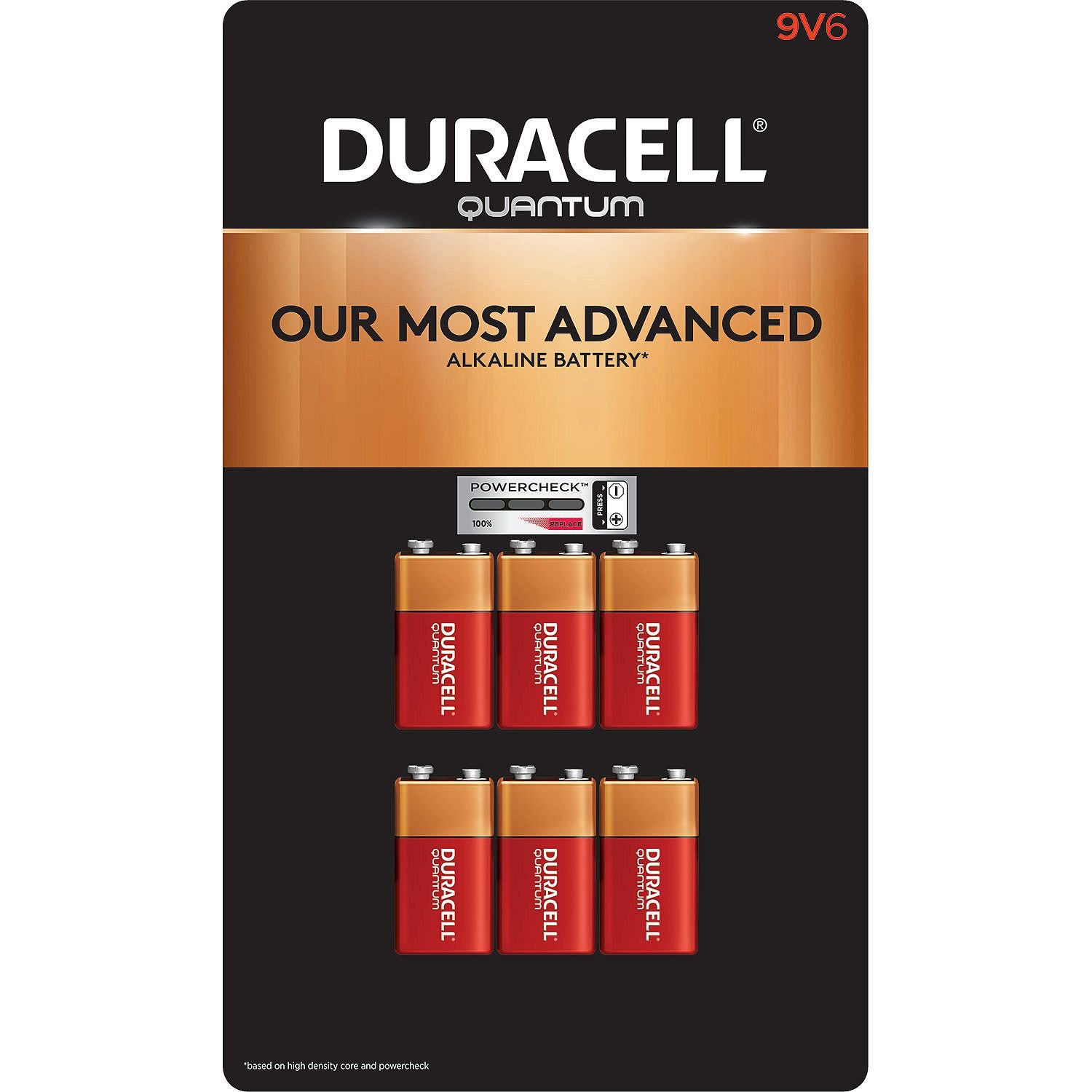 Duracell Quantum 9V Alkaline Batteries 6ct. Pk, Packaging May Vary by Duracell