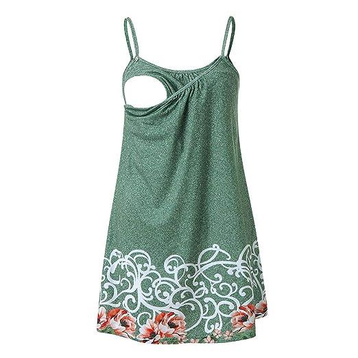 2e31348e0091c Forthery Hot Sales Summer Beautiful Maternity Petals printing Gallus Women  Nursing Long Tunic Shirt Tank Tops