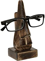 """SouvNear 6.5"""" Witty Wood Spectacle Holder - Wood Nose Eyeglass Holder / Spectacle Display Stand - Unique Desktop Accessory and Gifts"""