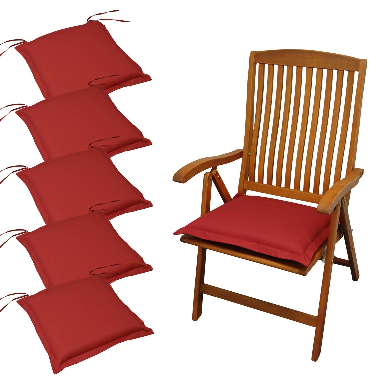 Indoba 6 x Sitzkissen Premium Polsterauflagen Rot