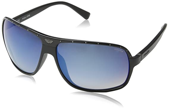 Police S1856, Gafas de Sol para Hombre, Azul (Shiny Black ...