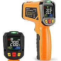 Termómetro infrarrojo Janisa sin contacto, con pantalla en color, temperatura de - 50 a + 800 °C, con apertura de 12…