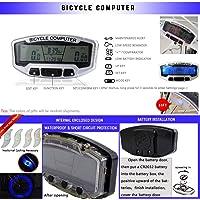 Velocímetro odómetro inalámbrico genérico LCD para bicicleta,  impermeable, ciclismo de montaña