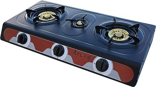 Tecatel – Cocina de gas uso exterior serie ATLAS GE03 NEGRA ...