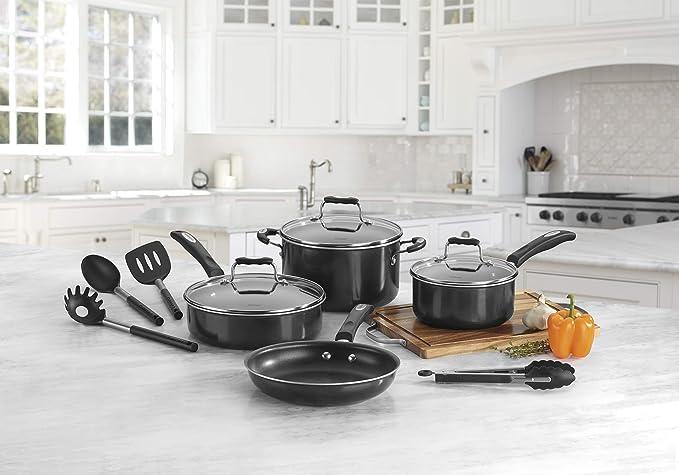 Amazon.com: Juego de utensilios de cocina antiadherentes que ...