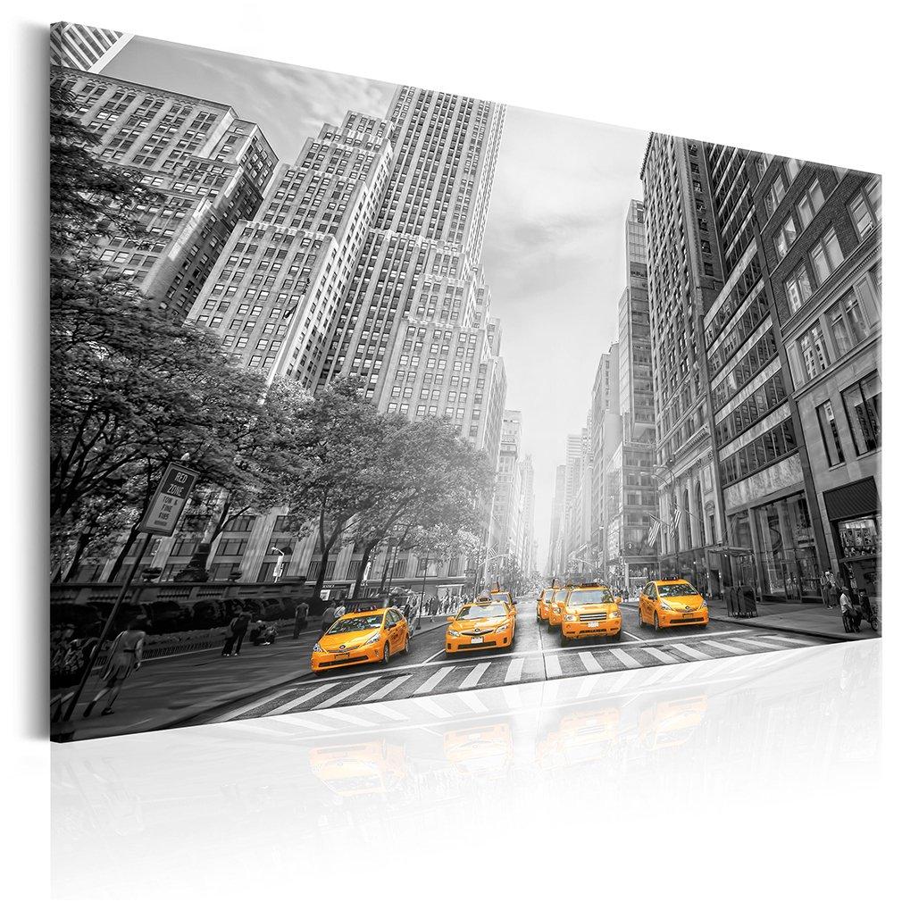 decomonkey Akustikbild New York 120x80 cm 1 Teilig Bilder Leinwandbilder Wandbilder XXL Schallschlucker Schallschutz Akustikdämmung Wandbild Deko leise Stadt City Architektur Sepia