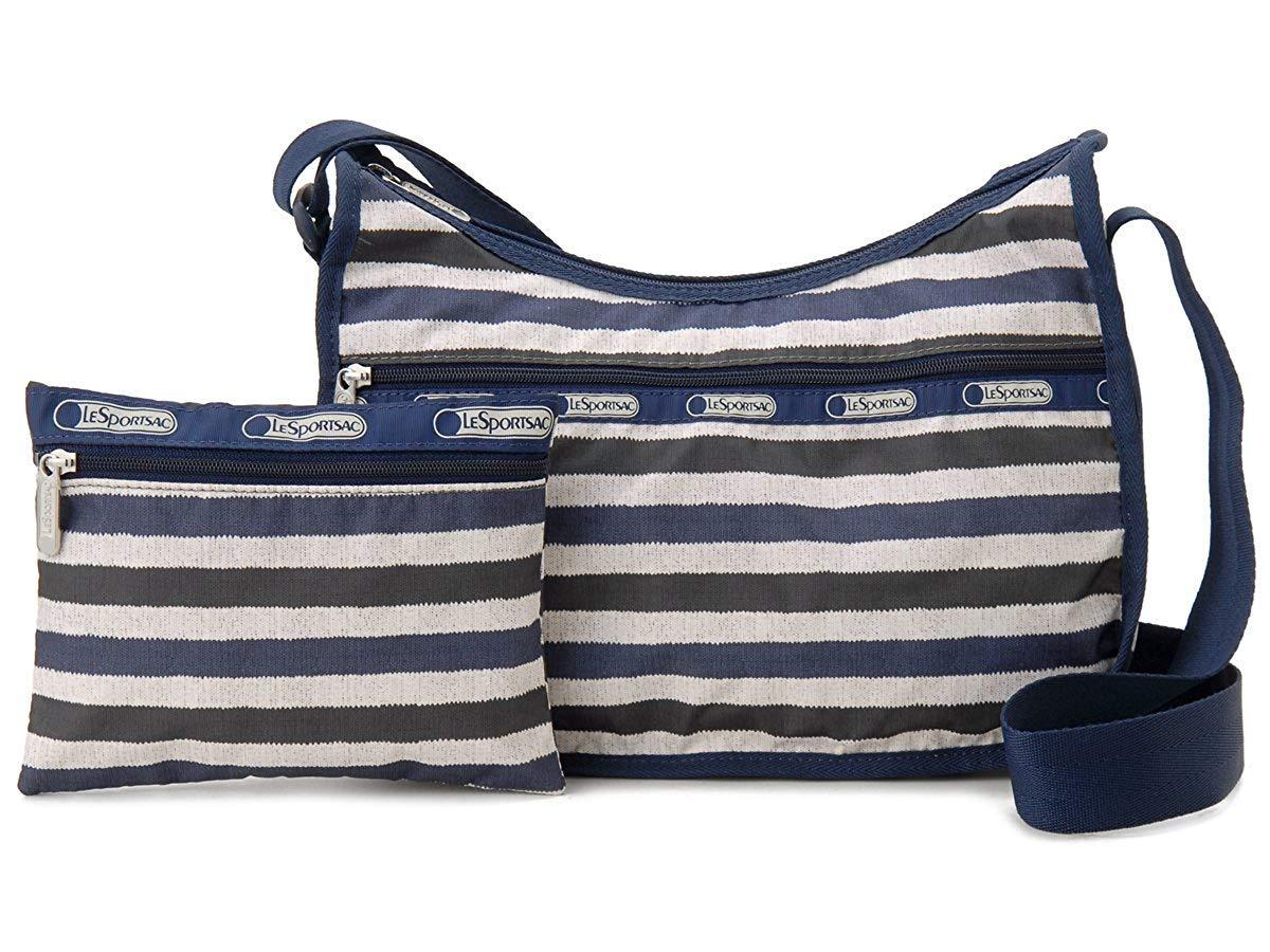 LeSportsac Cotton Stripe Classic Hobo Crossbody Bag + Cosmetic Bag
