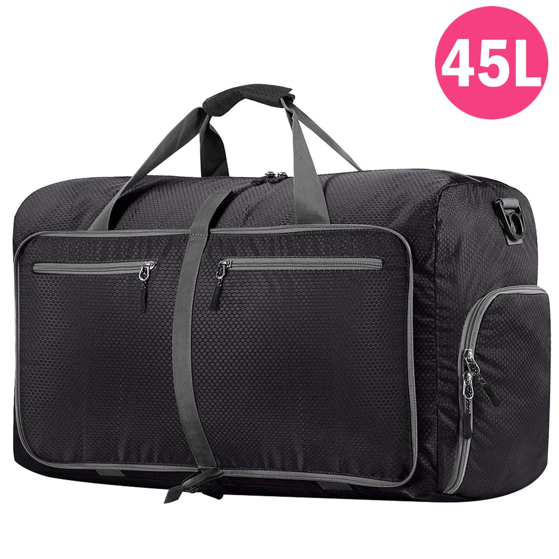 Packable Travel Holdalls To Fold Away For Spare Or Extra Holiday Bags Foldaway Hand Luggage Holdall Bag 40 Litre Capacity Folds Into Own Pouch Cabin Baggage Size 55cm x 36cm x 20cm RL9422K