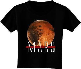TOOLOUD Planet Mars Text Toddler T-Shirt Dark