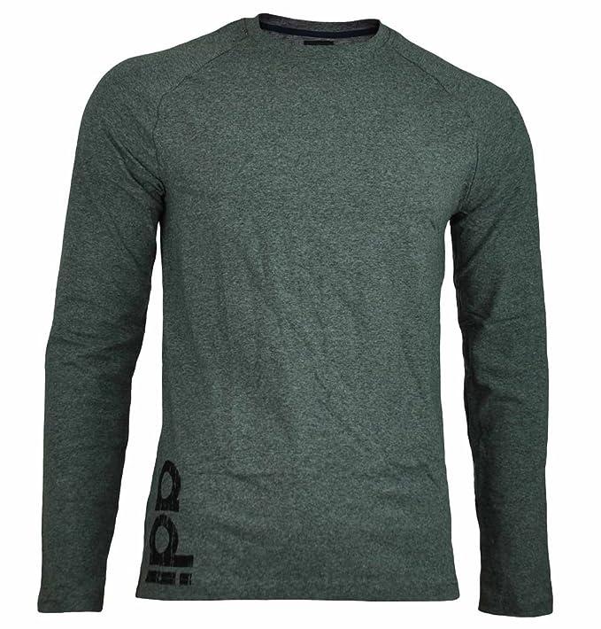 Adidas Originals DP tee LS Slim Fit Hombres Manga Larga Camiseta Camisa Largo Gris, Tamaño:S: Amazon.es: Ropa y accesorios