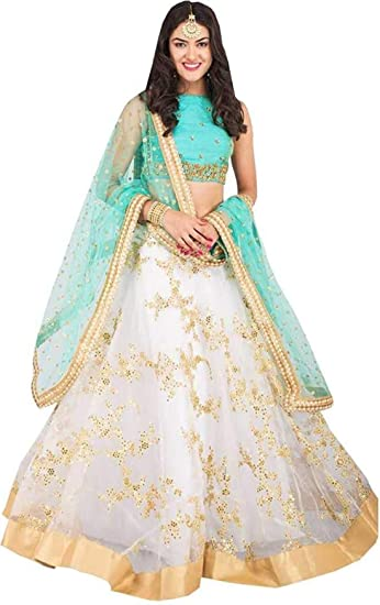 7822413f12 Next Enterprise women's Embroidered multi colour Semi Stitched lehengas, lehenga  choli (Golden 1001X,FreeSize): Amazon.in: Clothing & Accessories