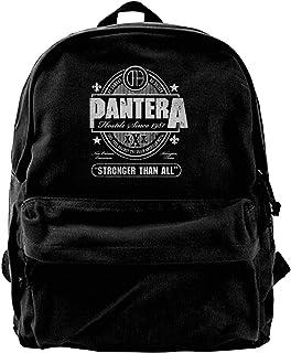 Canvas Backpack Pantera Stronger Than All Logo Rucksack Gym Hiking Laptop Shoulder Bag Daypack For Men Women