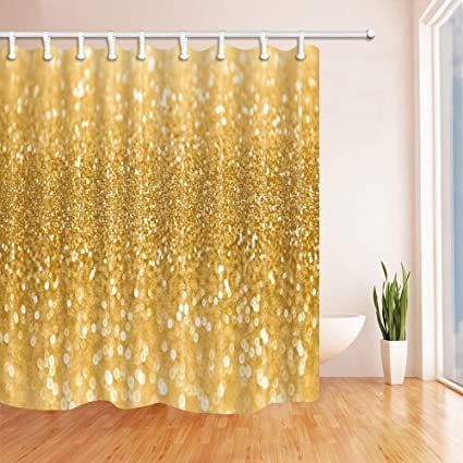 Image Unavailable Not Available For Color SZZWY Gold Sequin Shower Curtains