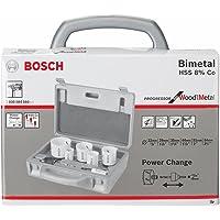 Bosch 2608584666-000, Jogo Serra Copo Power Change Progressor, Branco