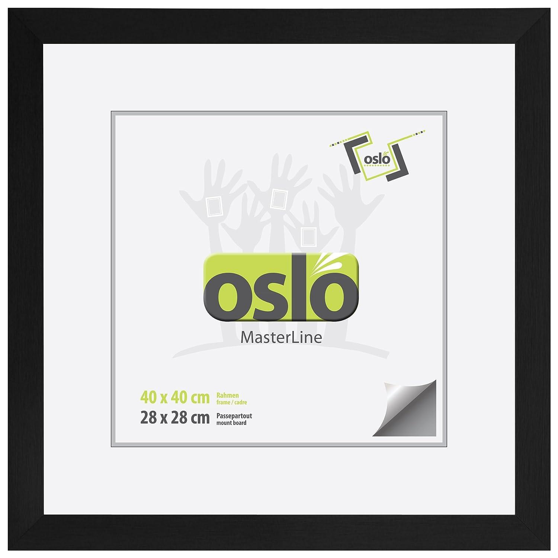 Amazon.de: OSLO MasterLine Bilderrahmen 40x40 schwarz matt Aluminium ...
