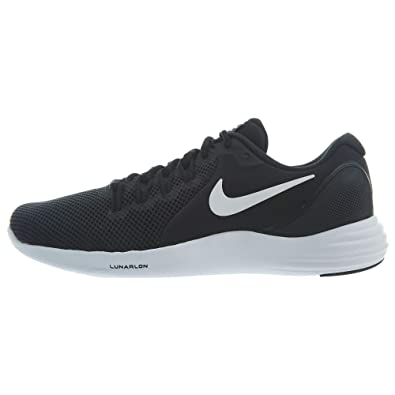 417cd26bc8e Nike Mens Lunar Apparent Running Shoe Black White-Cool Grey 8