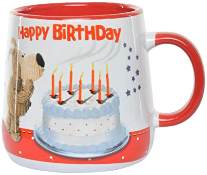 Archies Ceramic Happy Birthday Gift Boofle Coffee Mug 200 Ml White