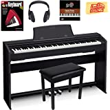 Casio Privia PX-770 Digital Piano - Black Bundle with Furniture Bench, Headphones, Instructional Book, Austin Bazaar Instructional DVD, and Polishing Cloth