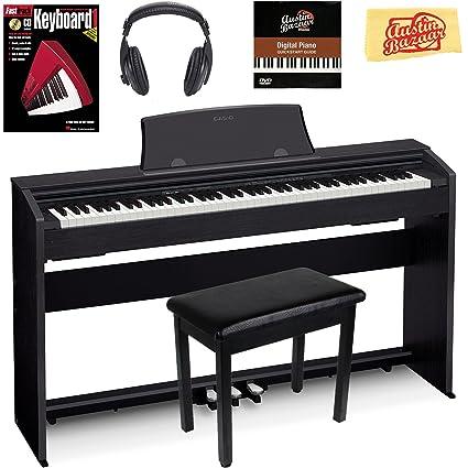 d7087b56696 Amazon.com  Casio Privia PX-770 Digital Piano - Black Bundle with Furniture  Bench