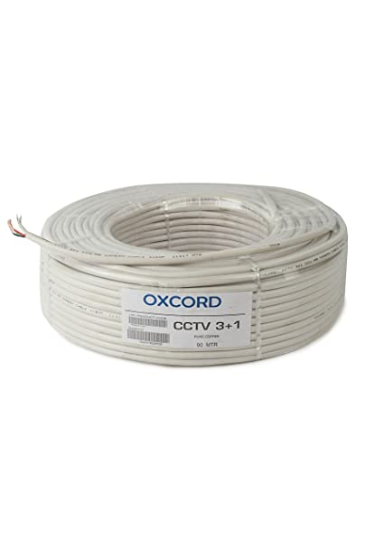 OXCORD CCTV 3+1 PVC Copper 5 sq/mm Wire (90 m , White)